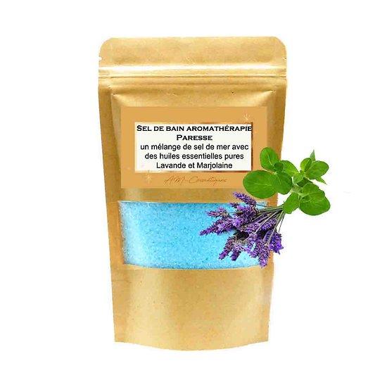 Sel de bain Paresse avec mélange huiles lavande et marjolaine
