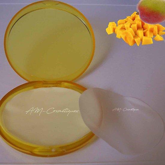 Feuilles de savon Mangue parfum fruité, utile et à emporter partout