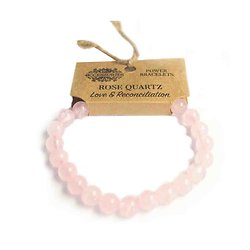 Bracelet de Puissance Quartz Rose Amour et Réconciliation pierres 8mm