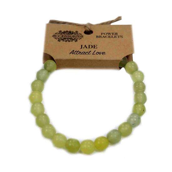 Bracelet de Puissance Jade Attire l'Amour avec des pierres de 8mm