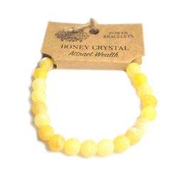 Bracelet Puissance Cristal de Miel Attire la Richesse pierres 8mm
