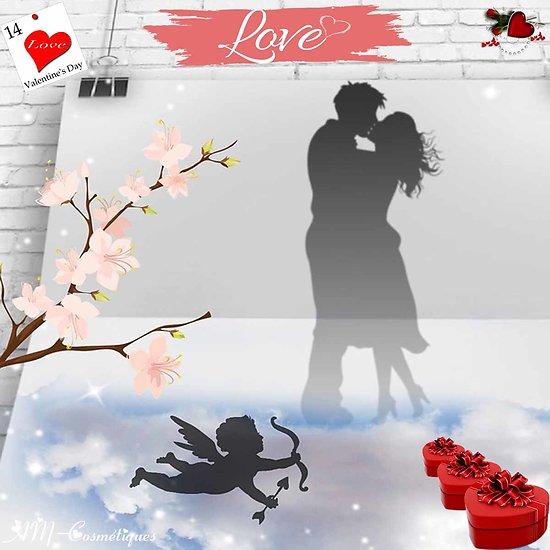 Box Saint Valentin 2021 avec ou sans abonnement rouge et amour
