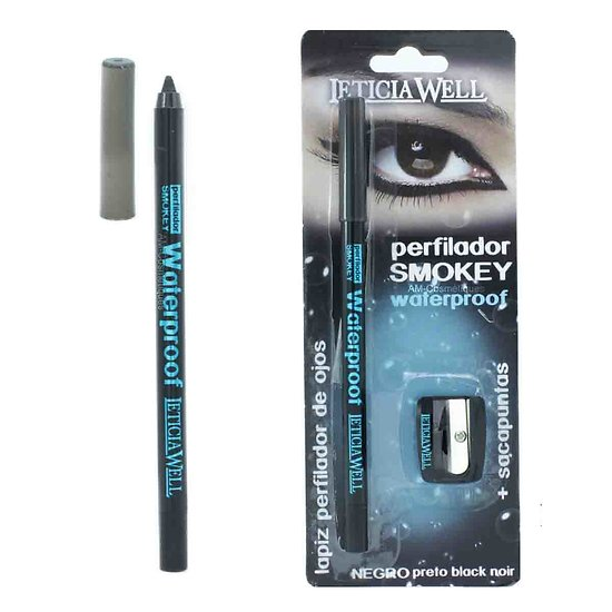 Crayon Smokey gel Noir waterproof avec son taille crayons Leticia Well