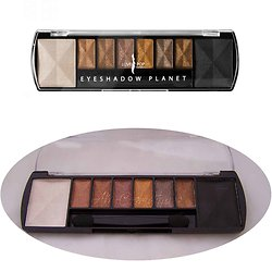 Palette planet Venus de 8 ombres à paupières marron Lovely Pop