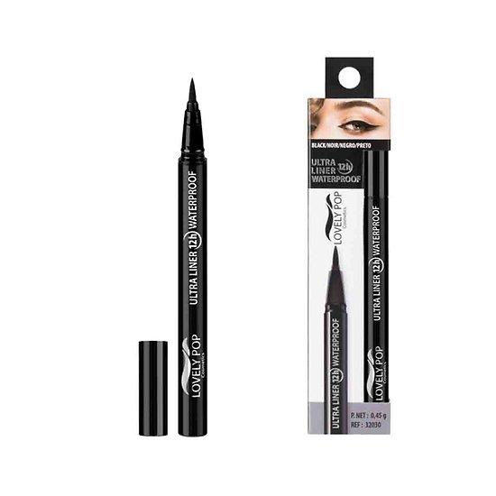 Eyeliner feutre Noir waterproof pinceau ultra précis Lovely Pop