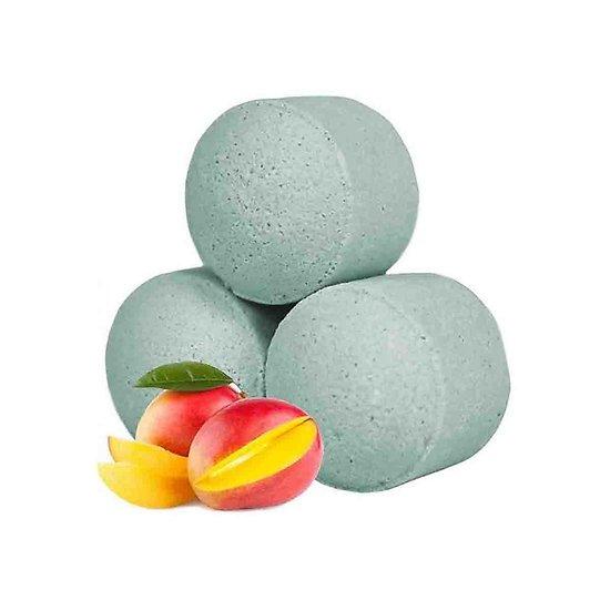 Mini boule de bain Mangue détente avec bombe bain parfum fruité