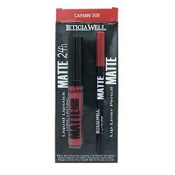 Rouge à lèvres liquide Mat et crayon lèvres Pack Carmin - Leticia Well