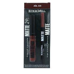 Rouge à lèvres liquide Mat et crayon à lèvres Pack Anil - Leticia Well