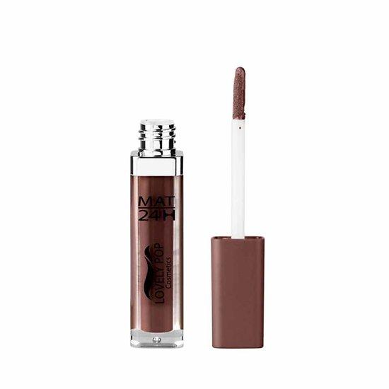 Rouge à lèvres liquide Mat Marron chocolat 14 mat 24h Lovely Pop