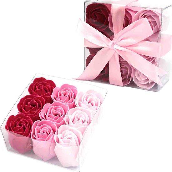 Rose en savon Rose avec 3 tons profitez d'un bain romantique