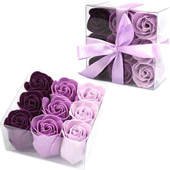 Rose en savon Lavande avec 3 tons pour un bain romantique