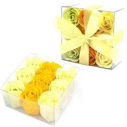 Rose en savon Fleurs du Printemps 3 tons pour bain romantique