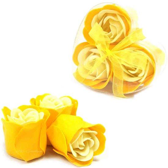 Rose de Savon Rose du Printemps pour le bain lot 3 dans boite en Coeur