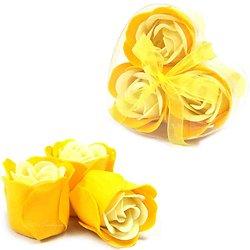 Rose de Savon Rose du Printemps pour bain lot 3 boite Coeur