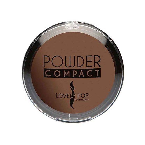 Poudre compacte Chocolat 09 matifiante peaux ébènes Lovely Pop