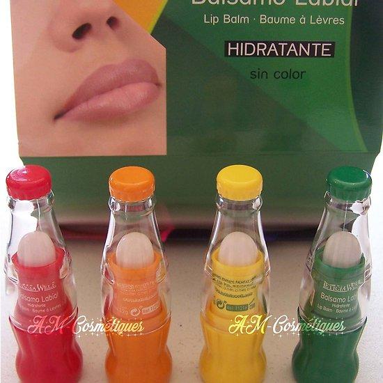 Baume à lèvres parfumé Fraise, Orange, Citron, Melon Leticia Well