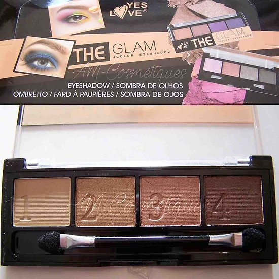 Fard à paupières palette The Nudes 4 ombres beige Yes Love