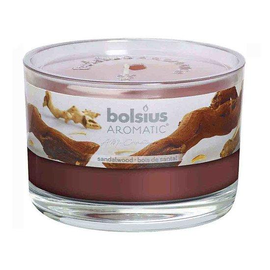 Bougie Bois de Santal parfum aromatique pour la maison Bolsius