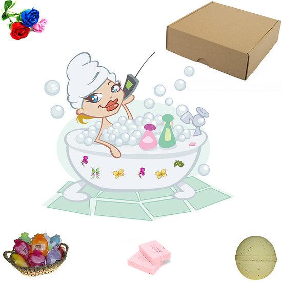 Lot découverte Bain et Douche, avec boule de bain ou savon tranche