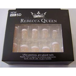 Faux ongles Nude french blanche autocollant x12 Rebecca Queen
