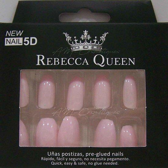 Faux ongles Rose Pastel autocollant 2en1 Rebecca Queen