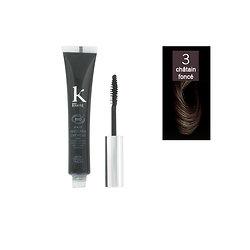 Mascara cheveux Châtain foncé 03 camoufle cheveux blancs K pour Karité