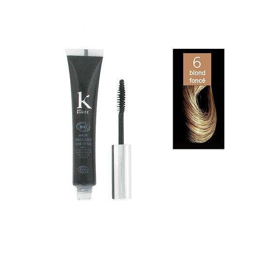Mascara cheveux Blond foncé 06 camoufle cheveux blancs K pour Karité