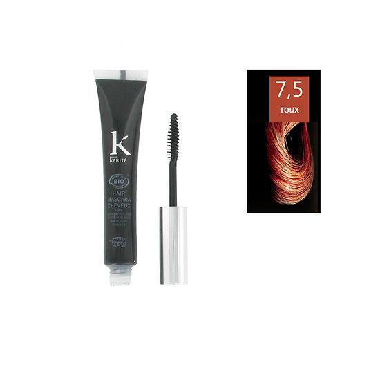 Mascara cheveux Roux 7.5 Bio camoufler cheveux blancs K pour Karité