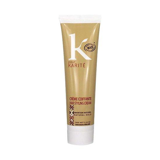 Crème coiffante karité Bio femmes, maintient la coiffure K pour Karité