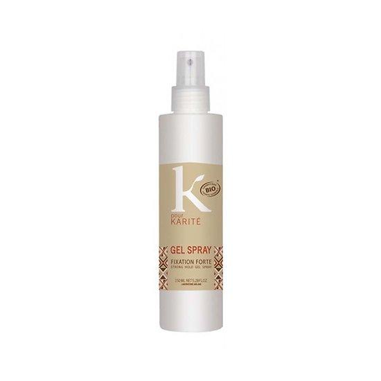 Gel fixation forte spray Bio en 150ml coiffure féminine K pour Karité