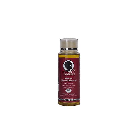 Synergie d'huiles capillaires Bio 100ml pour cheveux frisés ou crépus