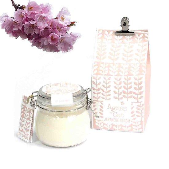 Bougie Fleur Japonaise en Kilner Jar cire de soja Agnes & Cat