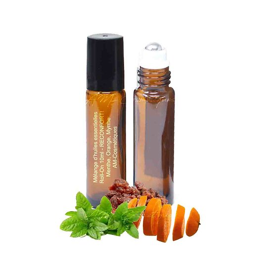 Huiles essentielles Réconfort mélange menthe, orange et myrrhe
