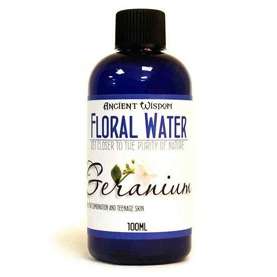 Eau Florale Géranium 100ml pour peaux mixtes lutte contre l'acné