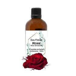 Eau Florale de Rose en 100ml régénère et favorise une peau saine