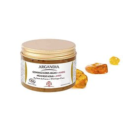 Gommage Corps Argan et Ambre Bio 150ml exfoliant en douceur Argandia