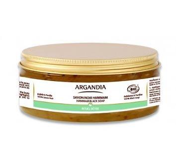 Savon Noir Hammam Huile Essentielle d'Eucalyptus Bio en 150ml Argandia
