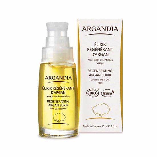 Elixir Régénérant Visage Argan Bio 30ml peaux dévitalisées Argandia