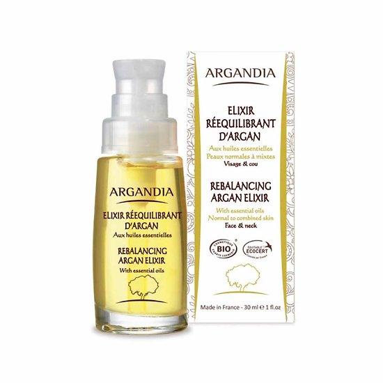 Elixir Rééquilibrant Visage Argan Bio 30ml une peau éclatante Argandia