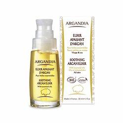 Elixir Apaisant Visage Argan Bio 30ml pour les peaux sèches Argandia