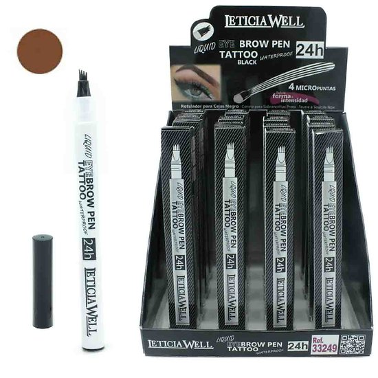 Feutre sourcils Marron liquid Eyebrow Pen Tattoo sourcils Leticia Well