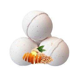 Boule de bain Tendresse aromathérapie benjoin gingembre orange