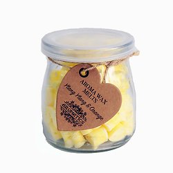 Coeur Cire Aromathérapie Ylang Ylang et Orange huile essentielle