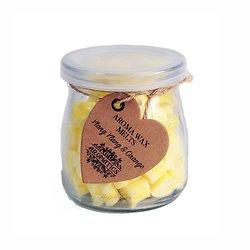 Coeur cire aromathérapie Noix de muscade et Citron parfum frais
