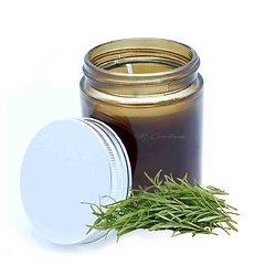 Bougie aromathérapie Pensées claires huile essentielle de romarin