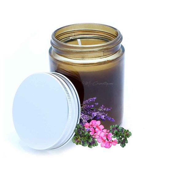 Bougie aromathérapie Havre de Paix lavande pure et géranium