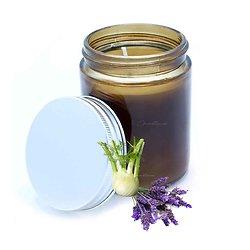 Bougie aromathérapie Reposante naturelle lavande et fenouil