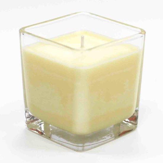 Bougie parfumée Sablé à la Vanille pot verre huile soja hydrogénée
