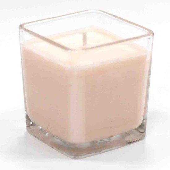 Bougie à la cire de soja parfumée Grenade et Orange pot verre