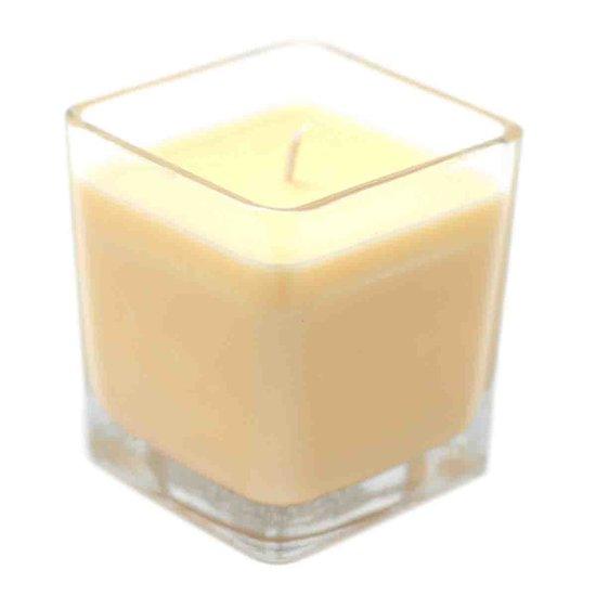 Bougie à la cire de soja parfumée So Delicious dans pot en verre